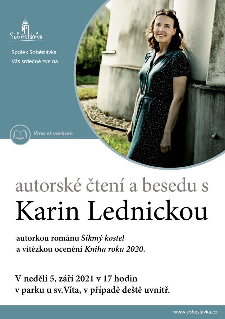 Karin Lednická - autorské čtení @ Před kostelem sv. Víta